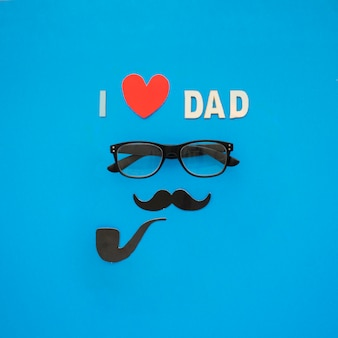 Fantastic father's day composition with glasses