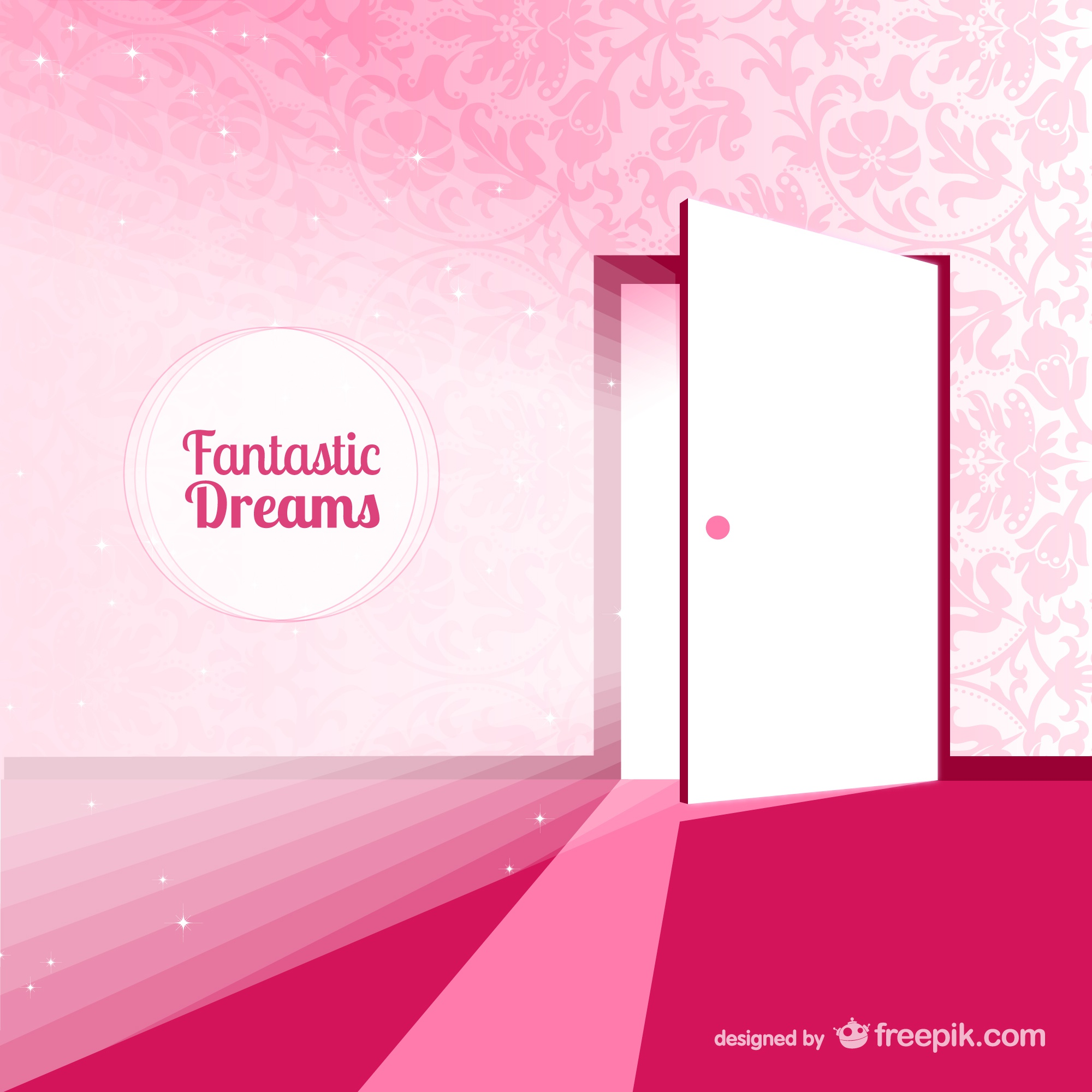 Fantasy door for dreams vector illustration