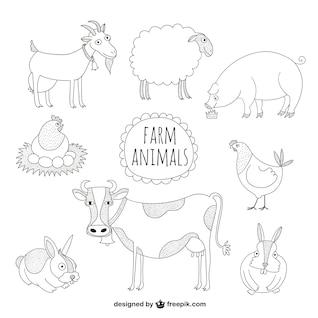 Farm animals illustrations