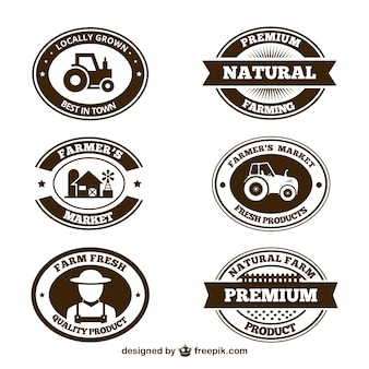 Farm products badges collection