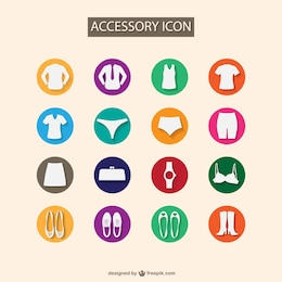Fashion accesories flat set