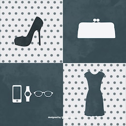 Fashion kit graphic elements