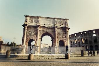 Fashion ruins triumphal italian happiness
