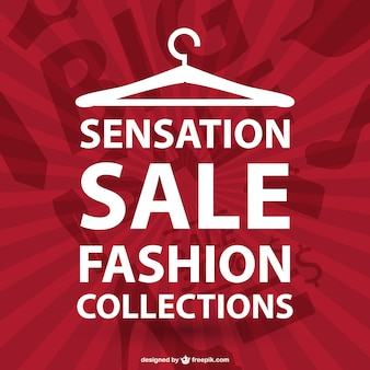 Fashion shopping typographic vector