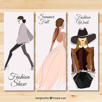 Fashion show banners