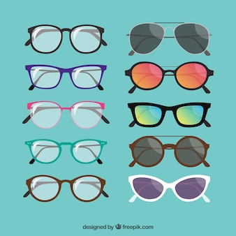 Fashionable glasses collection