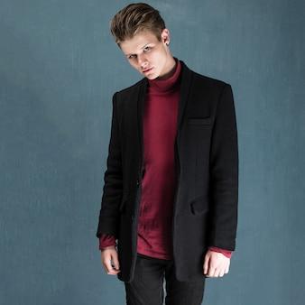 Fashionable man, studio photo