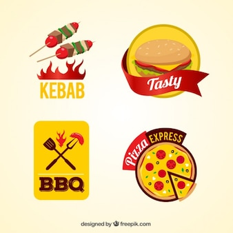 Fast food insignias