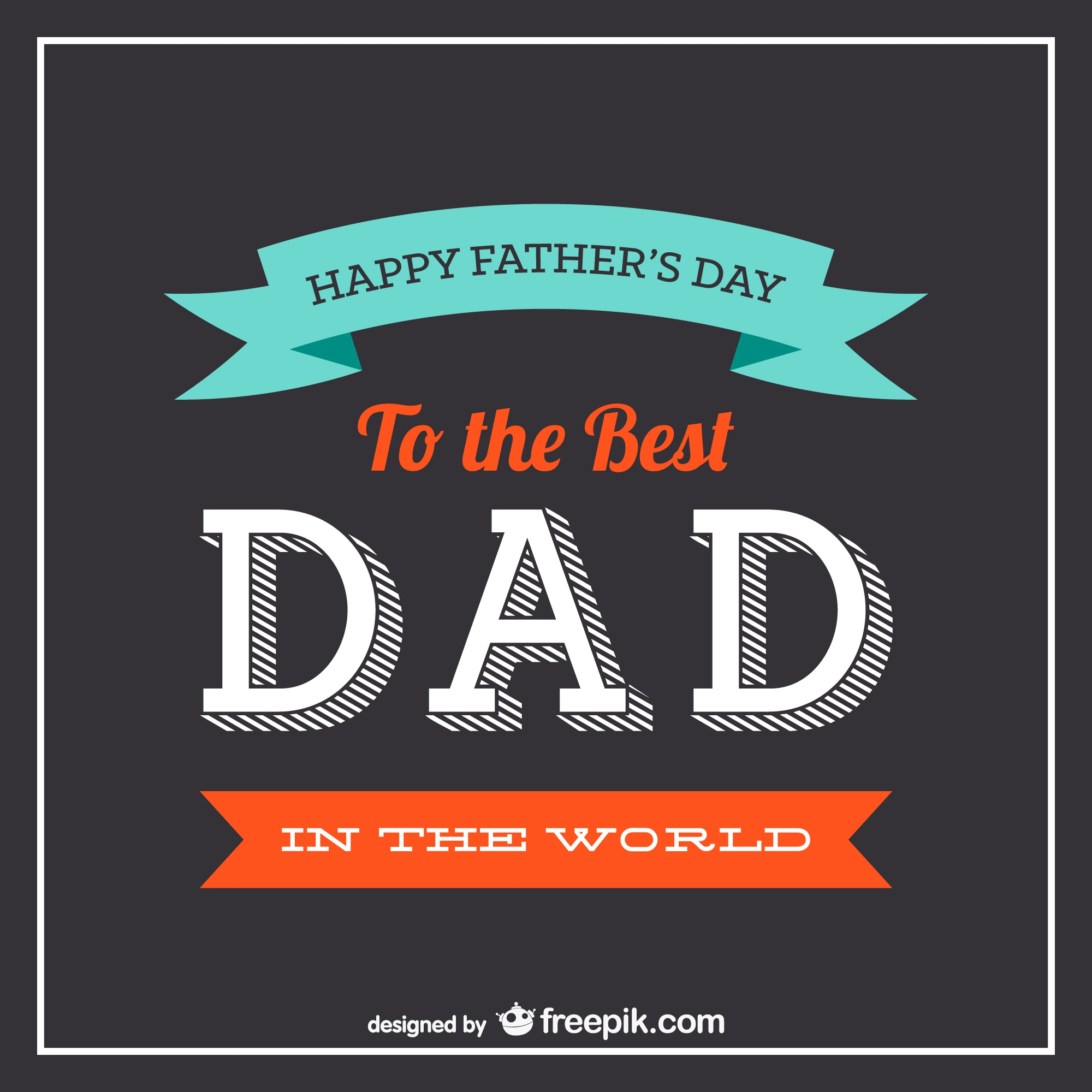 Father's day typography vector
