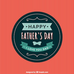 Fathers day badge in retro style
