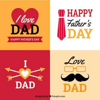 Fathers day badges collection