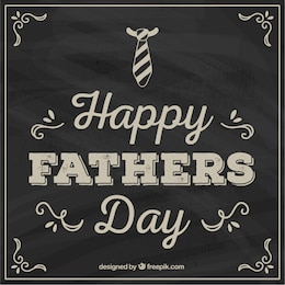Fathers day card in blackboard style