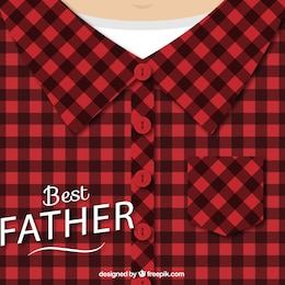 Fathers day design with checked shirt