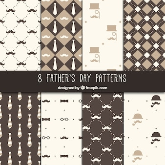 Fathers day patterns collection