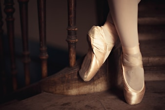 Feet of dancer