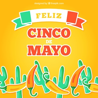 Feliz cinco de mayo background