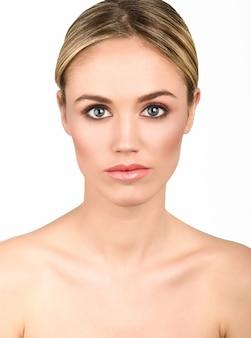 Female eyes pretty skin portrait
