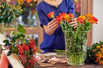Female person stem craft flora