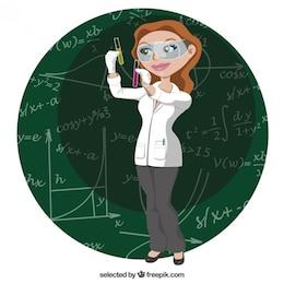 Female scientific character