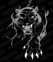Ferocious panther vector material