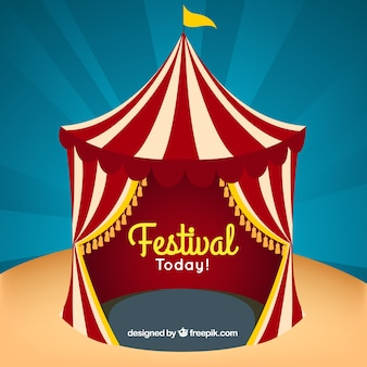 Festival card with a big top
