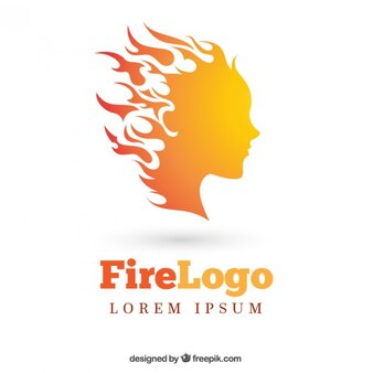 Fiery woman logo