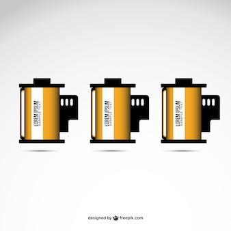 Film roll vector design free