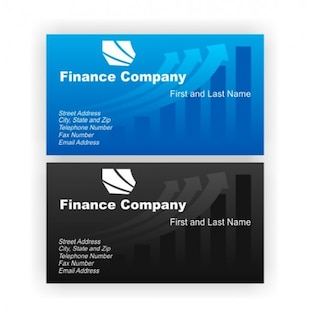 Finance stylish business cards vector set