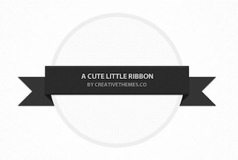 finely textured black ribbon banner psd