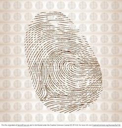 Finger print vector graphic