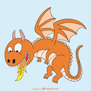 Fire dragon cartoon