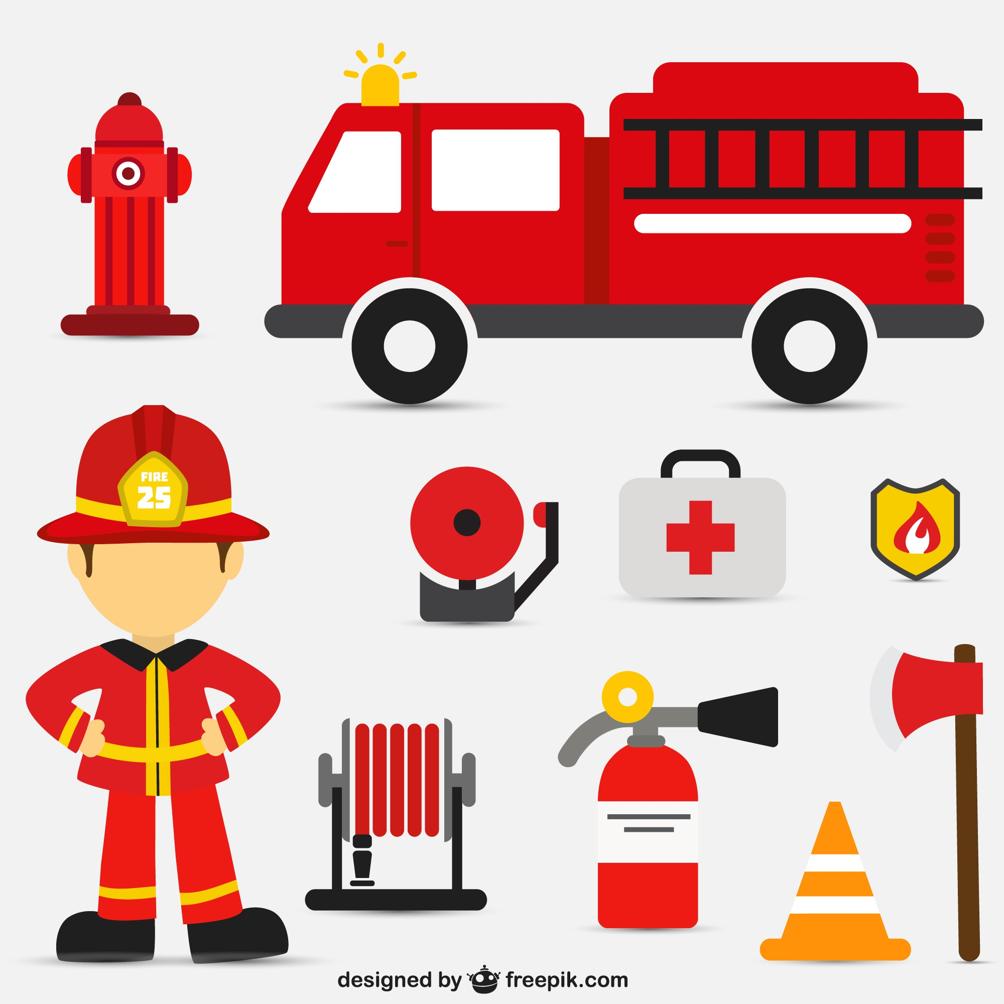 Fire intervention vector set