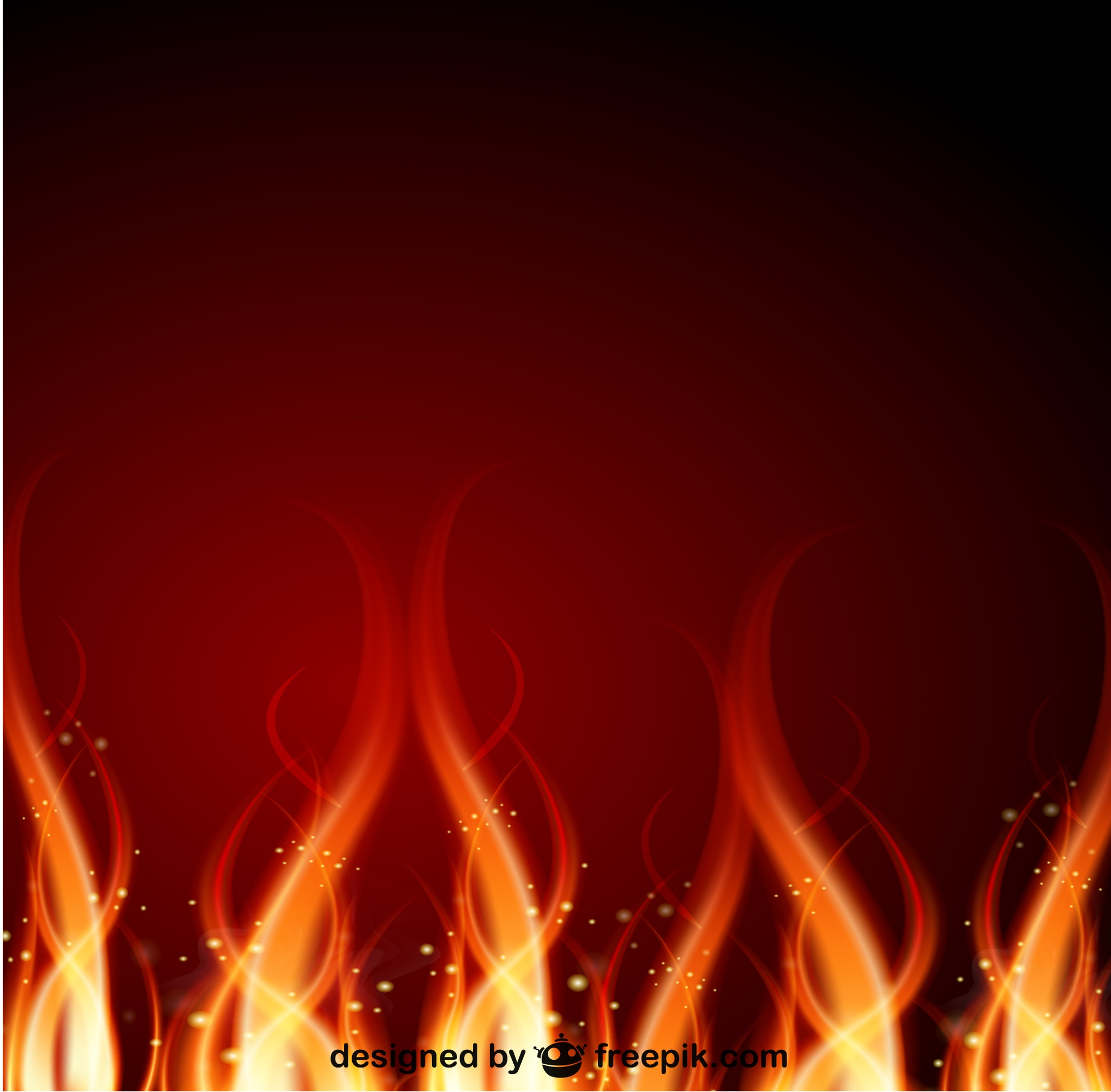 Fire vector background