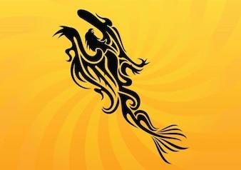 Firebird tattoo vector