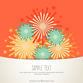 Fireworks illustration background
