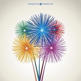 Fireworks vector free download