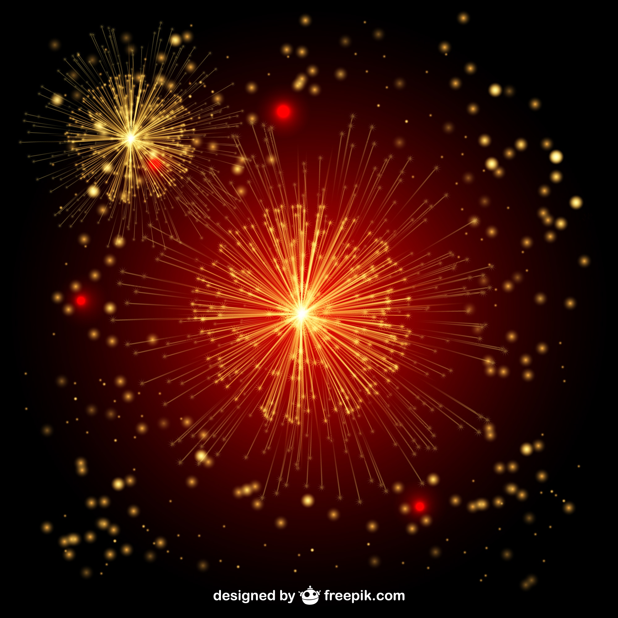 Fireworks vector free illustration