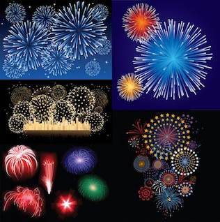 fireworks vector material