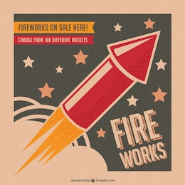 Fireworks vector poster