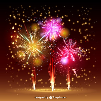 Fireworks vector sky