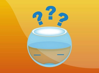 Fish bowl glass facial expession vector
