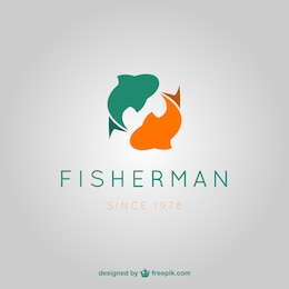 Fisherman vector logo