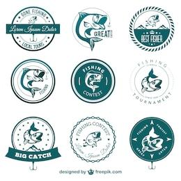 Fishing contest badges