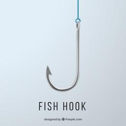 Fishing hook background