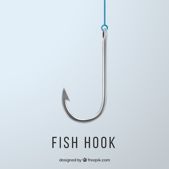 Fishing hook background