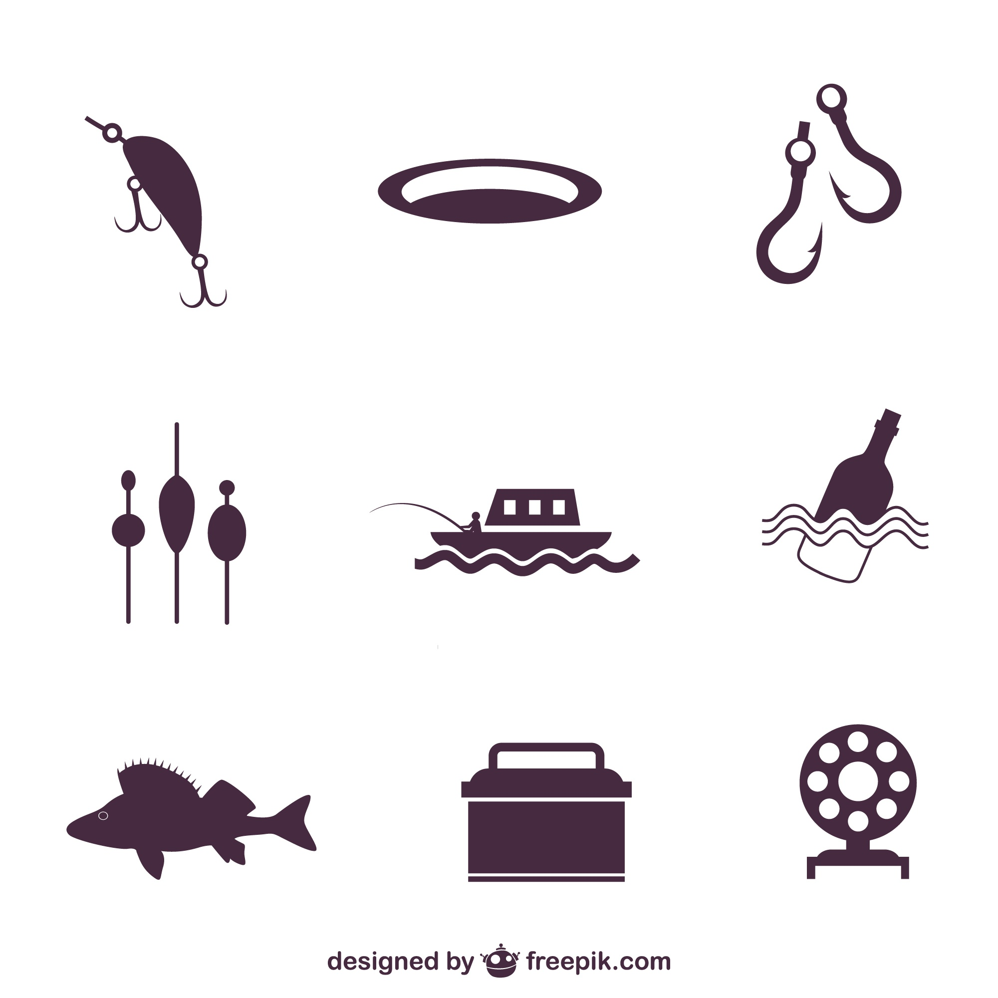 Fishing icons pack