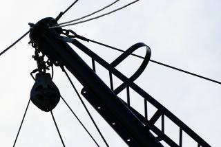 Fishing vessel rigging  tied