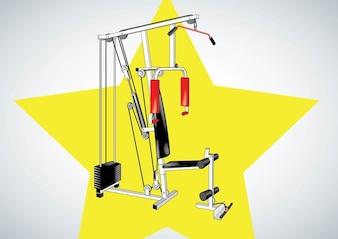 Fitness Equipment Vector
