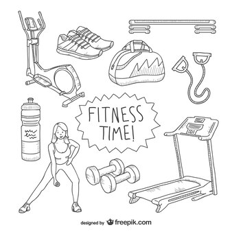 Fitness time drawings pack