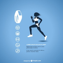 Fitness tracker vector graphics